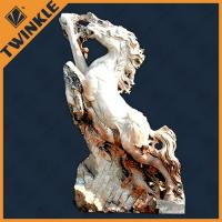 Buy cheap Natural Gallop Horse Marble Natural Stone Sculptures With Freestanding from wholesalers