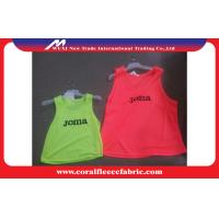 Buy cheap Sportman Training Soccer Vest Custom Soccer Jerseys / Basketball Uniforms Red or Green from wholesalers
