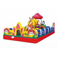 Buy cheap playground kids mushroom small inflatable jumping castle from wholesalers