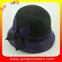 Buy cheap 2044 ladies fashion hats wholesale ,100% Australia wool felt cloche hats from wholesalers