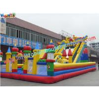 0.55mm Tarpaulin Large Amusement Park Commercials Inflatable Playground