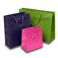 Buy cheap Matte Colored Jewelry Gift Bags Aqueous Coating Technics For Shopping from wholesalers