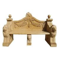 Stone Carving Bench Natural marble Hand Carved