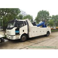 Buy cheap FAW Integrated Wrecker Tow Truck Recovery For Car 8000Kg Lifting Load from wholesalers