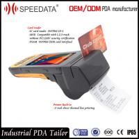 Buy cheap 4G LTE Mobile Handheld Smart Card Reader PDA Industrial with Portable Thermal Printer from wholesalers