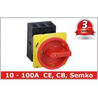 Buy cheap Black , Red 3 Pole Motor Rotary Isolator Switch Disconnectors with Door Mounted from wholesalers