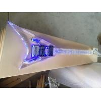 Buy cheap Full Transparent LED inlay plexiglass crystal acrylic Electric Guitar from wholesalers