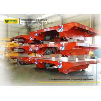 China Assembly Line Steel Motorized Transfer Trolley / Electric Transfer Cart Carriage on sale