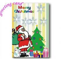Buy cheap Paper Christmas Greeting Card, Custom Printable Brithday Party Invitation from wholesalers