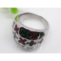 Buy cheap Cross Decoration Enamel Band Women Ring 1130839 from wholesalers