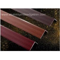 Buy cheap Wood Grain Color Aluminium Angle Trim Profile For Laminate Flooring Edge from wholesalers