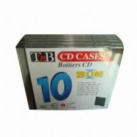 Buy cheap CD Case with 5mm Thickness, 10 Pieces Shrink Wrap with Label from wholesalers