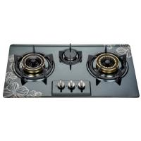 Built In Three Burner Gas Hob In Stainless Steel , 3 Burner Gas Cooktop 710*400mm