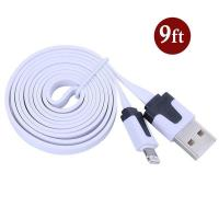 China Dual Color Noodle USB Cable Sync Flat Data Charger Cable for iPhone 2G3G4G4S iPad white on sale