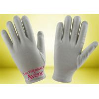 Buy cheap Custom Cotton Beauty Gloves , Hand Moisturizing Gloves No Fluorescent Whitening from wholesalers
