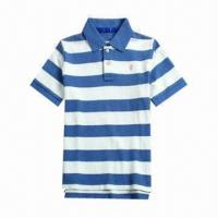 Buy cheap Men's Short-sleeved Polo Shirt with 100% Cotton Single Jersey from wholesalers
