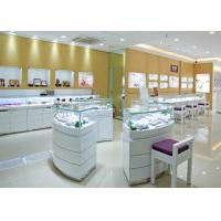 Buy cheap Retail Shop Lighted Commercial Jewelry Wall Display Case High Glossy White Color product