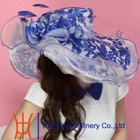 Buy cheap Wide Brim Funny Lady Organza Hats , Ladies Sinamay Hats from wholesalers
