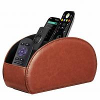 Buy cheap PU Leather Remote Controller Organizer TV Guide/Mail/Media Desktop Organizer Caddy Holder Key Organizer from wholesalers