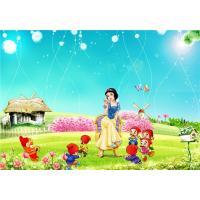 Eco Friendly Bamboo Fiber 3D Embossed Wall Panels Snow White Seven Dwarfs