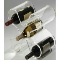 Buy cheap Shop Acrylic Display Stands Racks , Drink Beverage Wine Holder from wholesalers