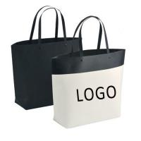 Buy cheap Customized Logo Bucket Shape Paper Bag with Plastic Handle 250x270x100mm from wholesalers