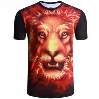 Buy cheap Round neck sublimation printing tiger polyester short sleeve T-shirt from wholesalers