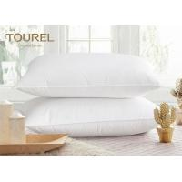 Buy cheap Hotel White Polyester Microfiber Pillow With Poly Cotton Fabric Pillow Cover from wholesalers