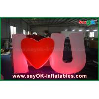 Buy cheap Special  Design Giant Outdoor Inflatable Led Letter / Number with Remote Controller from wholesalers