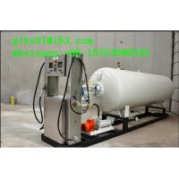 Buy cheap White OEM Liquefied petroleum/propane gas mobile skid mounted LPG station for Ghana from wholesalers