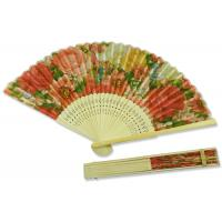 Buy cheap 22cm Rose Pattern Hand Held Folding Fans Colorful Fashionable European Style product
