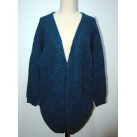 Comfortable Womens Cardigan Sweaters Navy Blue With Two Lower Pockets