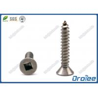 Buy cheap Flat Head Square Drive Self Tapping Sheet Metal Screws, Stainless 18/8/ 304/316 from wholesalers
