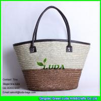 Buy cheap LUDA new colorful stripe beach bag women straw bag handbag straw messenger bags from wholesalers