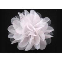Buy cheap White Alternative Chiffon Mesh Fabric Flower Corsage Accessories For Bridal Wedding from wholesalers