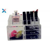 Buy cheap Eco Friendly Acrylic Makeup Organiser With Drawers Display Storage Box product