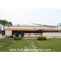 Buy cheap 3 Axles Propane Tank Trailer Delivery Trucks CNG Gas Tank Semi Trailer from wholesalers