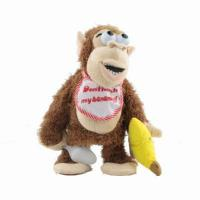 Buy cheap Funny Chimpanzee Plush Stuffed Animal Toy Don't Touch My Banana Doll from wholesalers