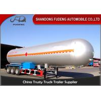 Buy cheap 10 Wheelers LPG LNG Fuel Transfer Trailer 3*13 Ton FUWA Axles Carbon Steel Tank from wholesalers