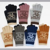 Buy cheap 11*20.5cm 52g Nature And Soft 90%Acrylic 5%Spandex 5%Conductive Fiber Cheap Women Winter Knitting Gloves from wholesalers