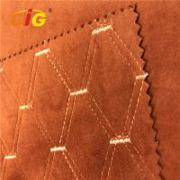 Buy cheap 100% Polyester Emboss Emboridery  PVC Artificial Leather For Car Seat product