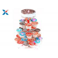 Buy cheap Round Crystal Acrylic Cupcake Stand , Three Tier Acrylic Wedding Cake Display Stand from wholesalers