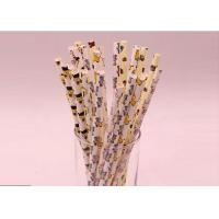 Buy cheap Disposable Colored Paper Straws Harmless Custom Color For Human Body from wholesalers