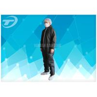 Buy cheap Lightweight Anti - Acid Disposable Coverall Suit Microporous Film Laminated Fabric from wholesalers