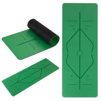 Buy cheap Natural Rubber Yoga Mat, Body alignment lines Non-Slip Fitness pad 5mm Excercise Pad from wholesalers