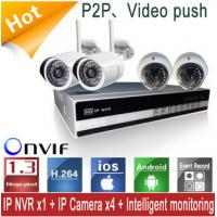 Buy cheap WIFI High Resolution NVR Kits With Four 720P IP Cameras For Mobile Viewing from wholesalers