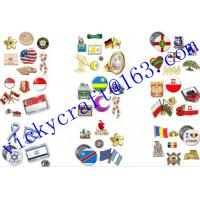 Buy cheap High quality new design antique brass plating metal souvenir badge from wholesalers