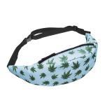 Buy cheap Unisex Marijuana Weed Leaf Fanny Pack single Shoulder Bag Waist Bag Phone Holder Adjustable Running Belt For Cycling from wholesalers
