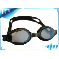 Buy cheap Black Silicone Polarized Prescription Swimming Goggles For Kids from wholesalers