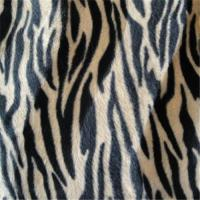 Buy cheap zebra printing velboa fabric for toys and pets from wholesalers